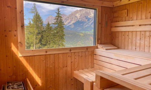 Sauna mit Ausblick auf den Dachstein