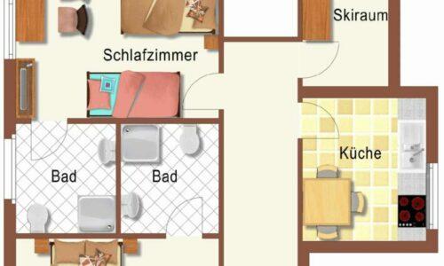 Grundriss Apartment Wöhrer